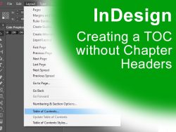 InDesign - Creating a TOC without Chapter Headers