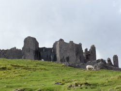 Carreg Cennan Castle - romantic 13th century castle ruins perched on a high bluff