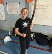 Author and fencer Chloe Headdon