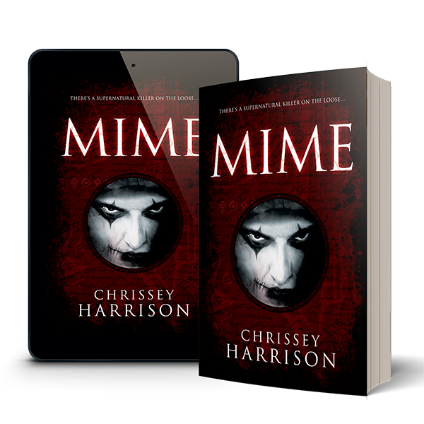 Mockup image of the book Mime - paperback and tablet
